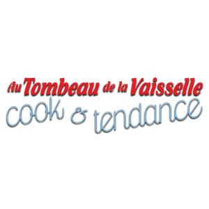 """Le logo de la boutique """"Au Tombeau de la Vaisselle"""""""