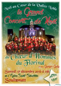 Chœur d'hommes du Florival : Concert de Noël 2016