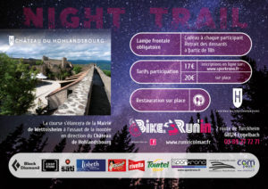 Flyer verso du Night Trail