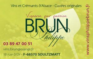 Carte de visite de Philippe Brun Viticulteur