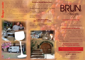 Philippe Brun, viticulteur, tarif novembre 2018 verso