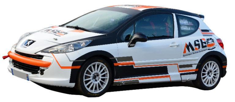 Décoration de véhicule de rallye MSE