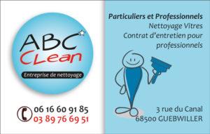 La carte de visite d'ABC Clean