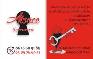 La carte de visite d'Alsace serrurerie