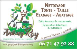 La carte de visite d'Antony Roy Paysagiste