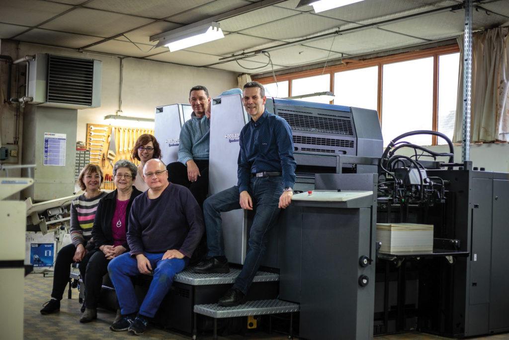 L'équipe de l'imprimerie Ziegler